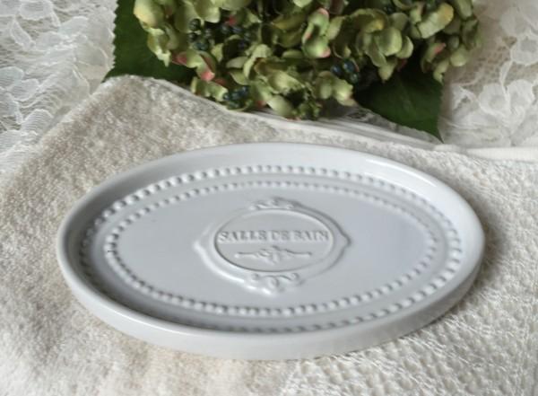 Seifenschale PERLENKANTE Creme Keramik