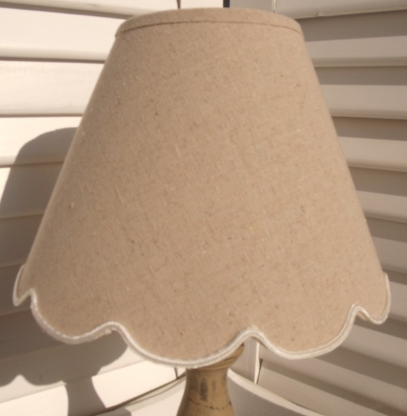 Lampenschirm BOGEN LEINEN E27 natur sand