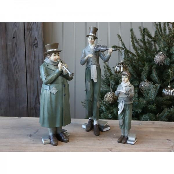 Vintage Weihnachtsorchester KLEIN 3 teilig Weihnachts Deko