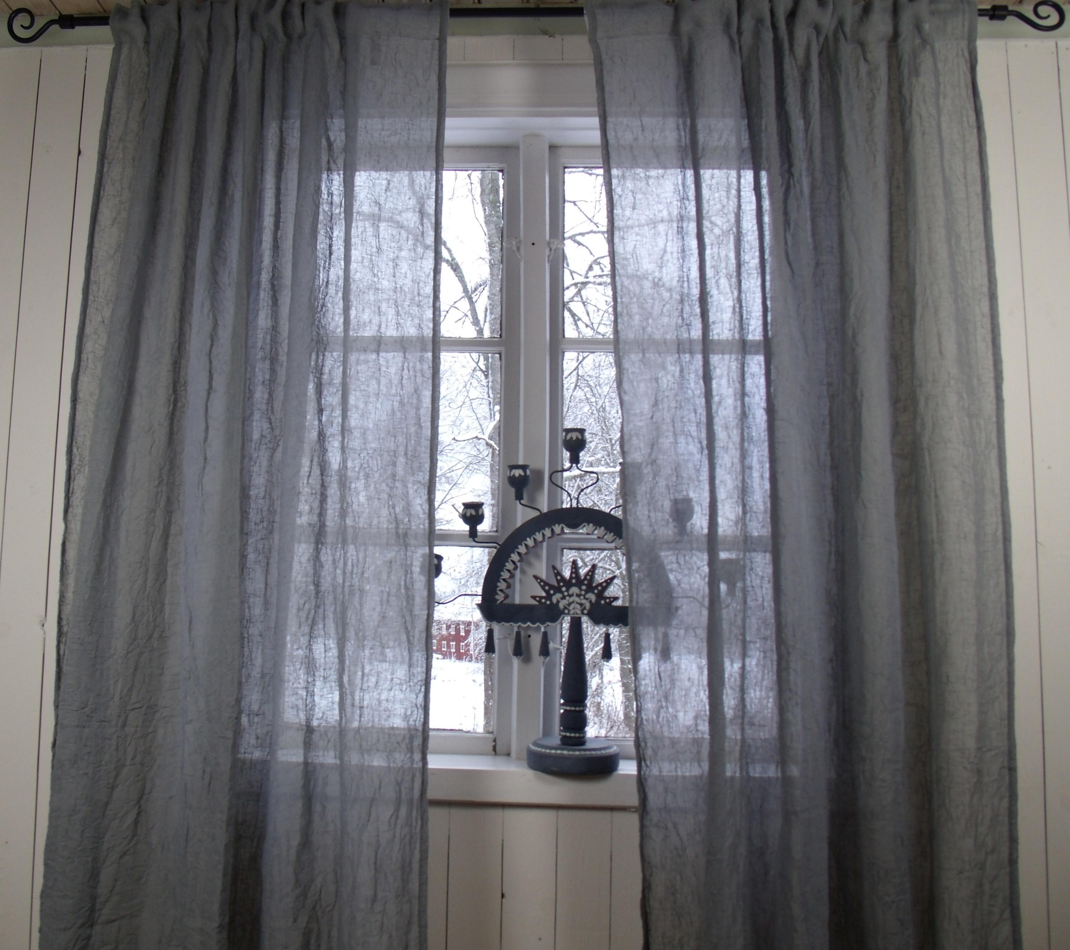 Vorhang LIA Grau Gardinen Schal 130x240 cm 2 Stück Crash Crincle ...