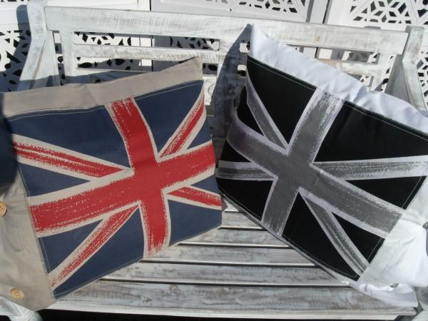 Kissenbezug JACK Weiß oder Sand 50x60 Flagge Shabby Chic Baumwolle