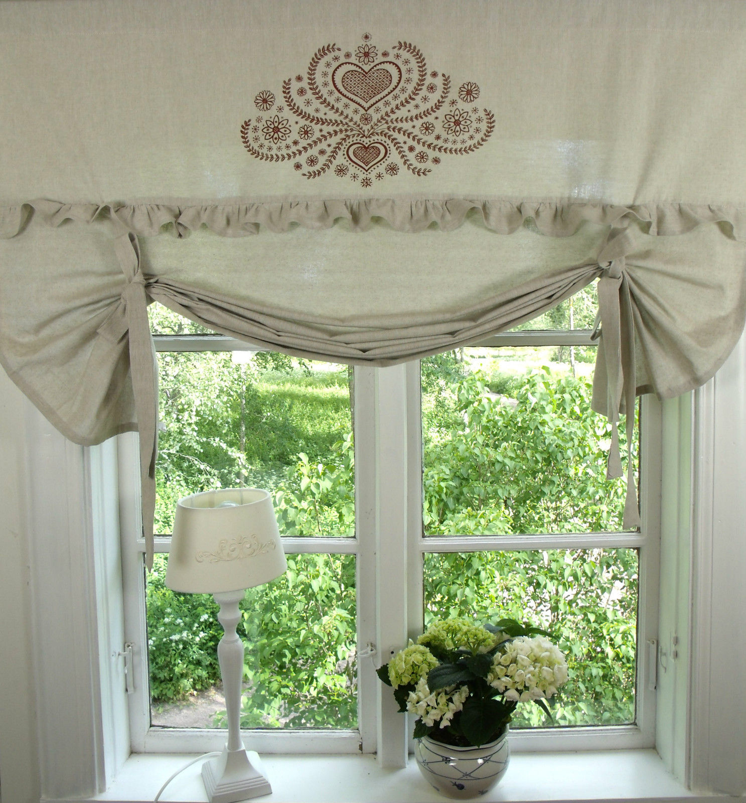 raff gardine herzig sand rot rollo 100x100 cm. Black Bedroom Furniture Sets. Home Design Ideas