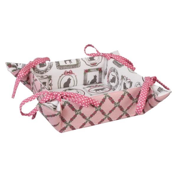 brotkorb br tchenkorb tara stoff rosa wei 35x35 cm brotk rbe aus stoff mehr k che. Black Bedroom Furniture Sets. Home Design Ideas