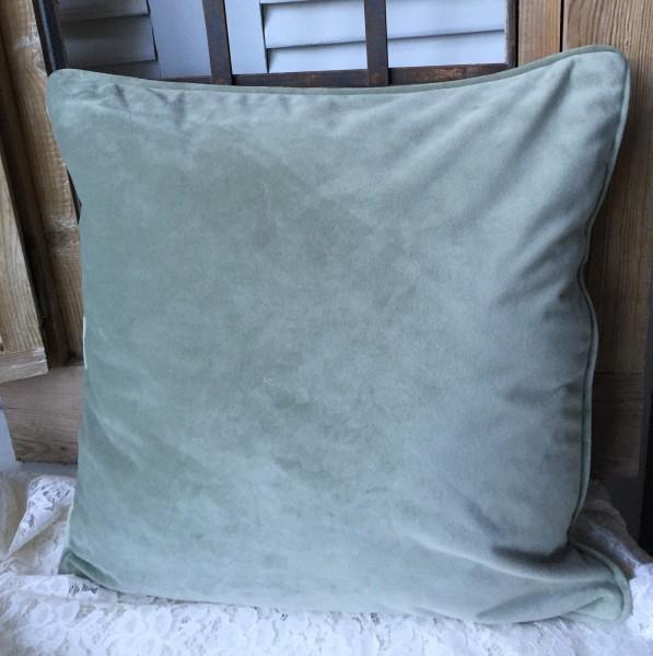Kissenbezug GABRIELLA Samt Lindgrün 45x45 cm Polyester