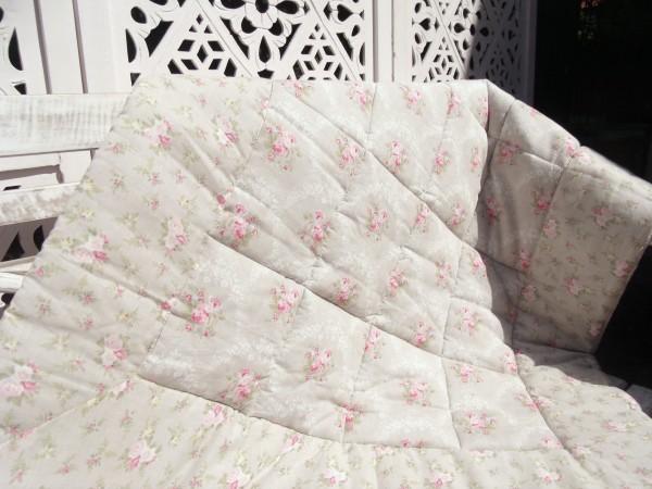 Decke LOUISA 85x105 cm Krabbeldecke Grau Rosa Pastell Kinder Clayre Eef