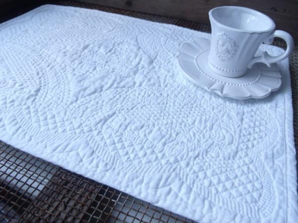 Tischset Platzset WHITE 2 Stück 48x33 cm Deckchen Landhaus
