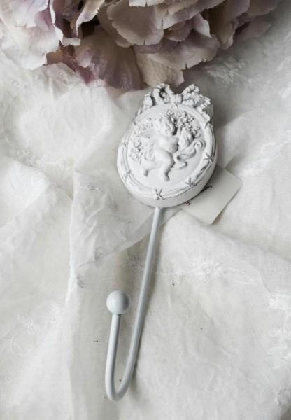 Wandhaken PUTTE KLEIN weiss Metall weiß 5x5x16cm Vintage Shabby Chic