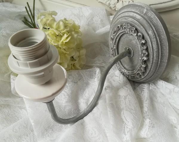 Wandlampe GINA Grau Braun E 27 Shabby Chic Stil