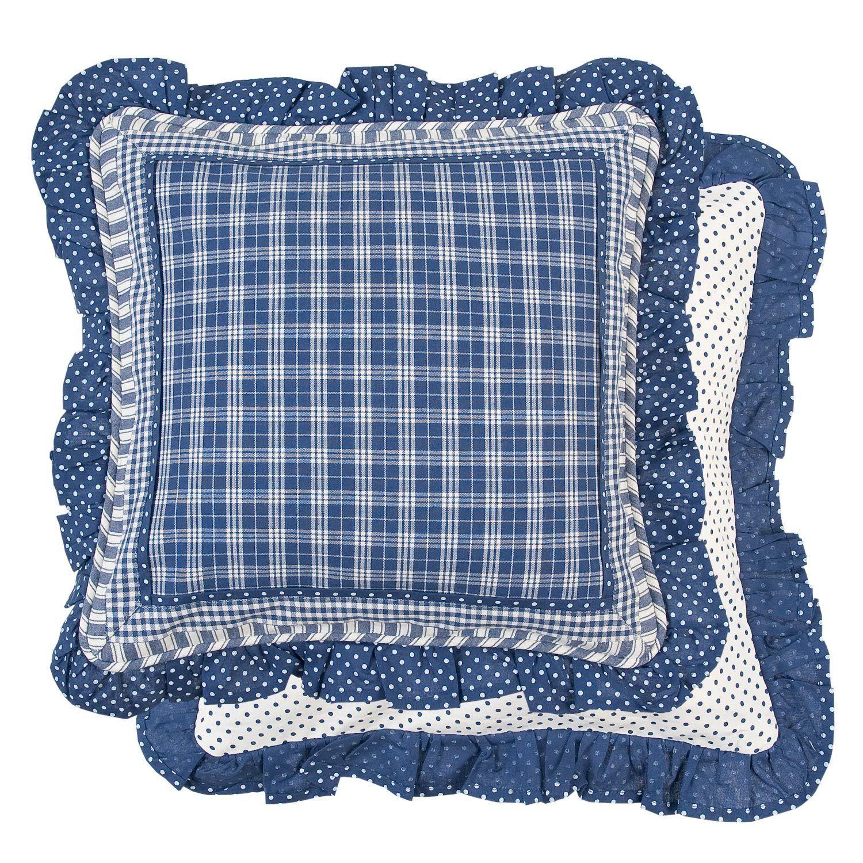 kissenbezug sj blau 40x40 cm blau kariert punkte karo. Black Bedroom Furniture Sets. Home Design Ideas