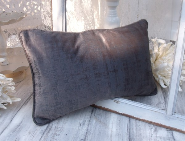 Samt Kissen Bezug Hülle CHARME 30x50 cm BRAUN Glanz Schimmer Polyester