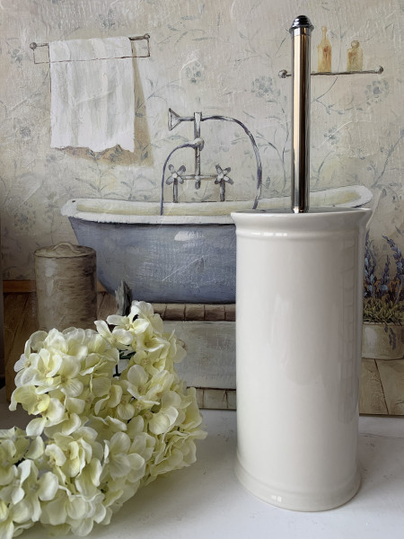 Toilettenbürste SIMPEL WC Klobürste Creme Keramik Shabby
