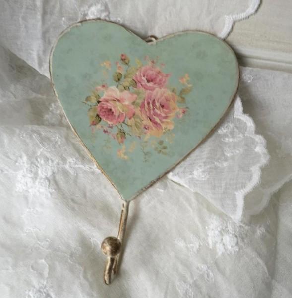 Handtuchhaken ROSALIE MINT 2 Stück Handtuchhaken Kleiderhaken Mint Rosa Creme