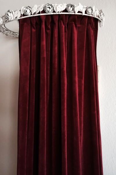Vorhang GABRIELLA Samt Weinrot 140x280 cm 2 Stück