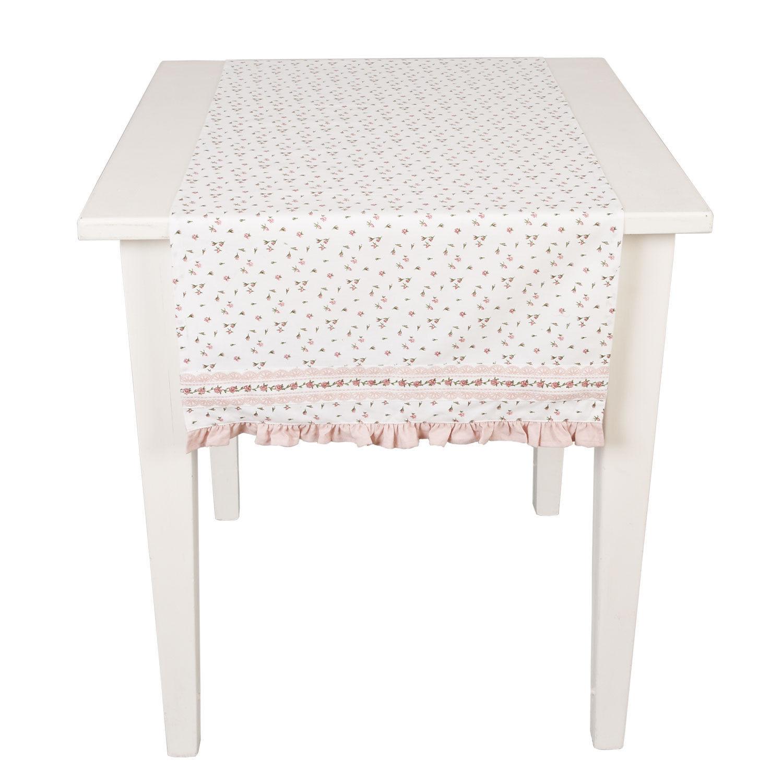 tischl ufer romantik rose creme rosa 50x140 cm tischl ufer textilien zauberhafter landhausstil. Black Bedroom Furniture Sets. Home Design Ideas