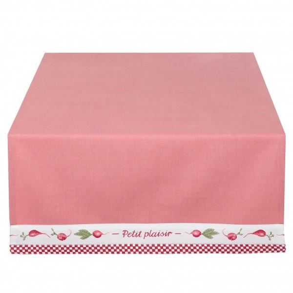 Tischläufer PETIT rot weiß 50x140 cm kariert