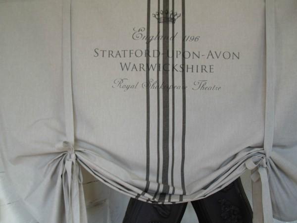 raff gardine stratford sand grau 140x120 cm raffgardinen rollos gardinen zauberhafter. Black Bedroom Furniture Sets. Home Design Ideas