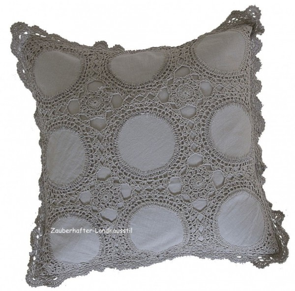 kissenbezug isabella grau 45x45 cm h kel look. Black Bedroom Furniture Sets. Home Design Ideas