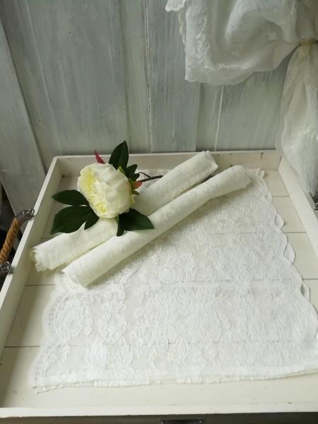 Spitzen Tischläufer LUCIA Weiß 40x 90 cm