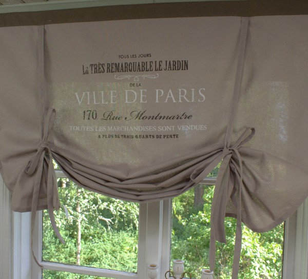 Raff Gardine VILLE de PARIS SCHOKO braun Rollo Breite 100 oder 160 cm