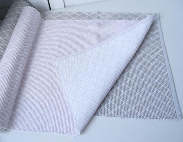 Tischläufer LillaBelle AIDA rosa, schwarz, grün, grau, sand 35x120