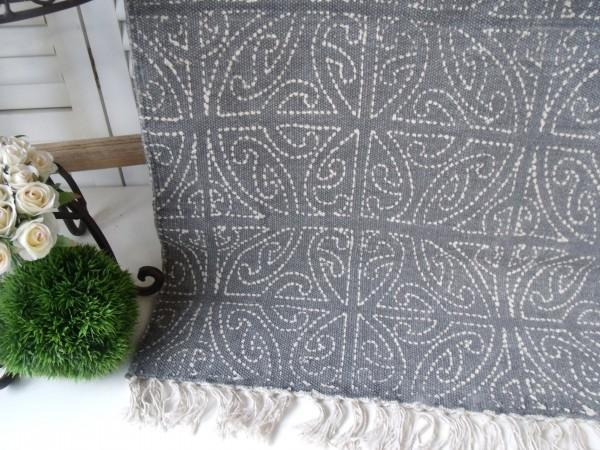 teppich l ufer celtic grau creme webteppich in 2 gr en 60 x 90 cm teppich zauberhafter. Black Bedroom Furniture Sets. Home Design Ideas