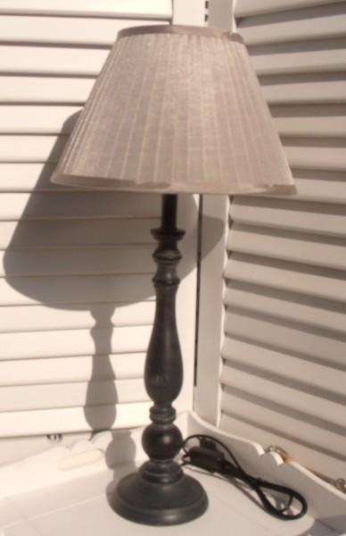 Tischleuchte Holz SEIDENGLANZ SAND Designer Lampe gewischt E14