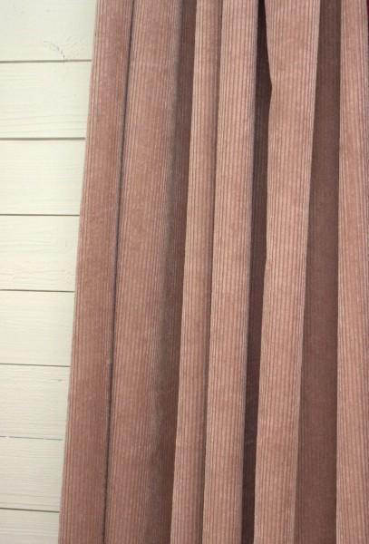 Vorhang SUNA Samt Kord PUDER 140x250 cm 2 Stück Blickdicht Gardinenschals Set Landhaus
