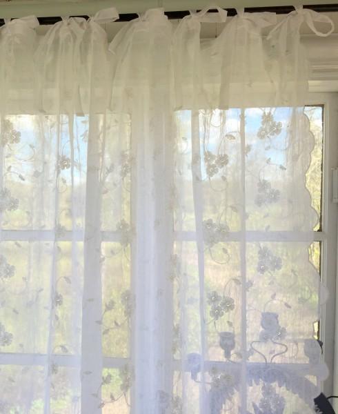 Gardinen Schal LISAMARIE Bestickt Rein Weiß 200x250 oder 200x300