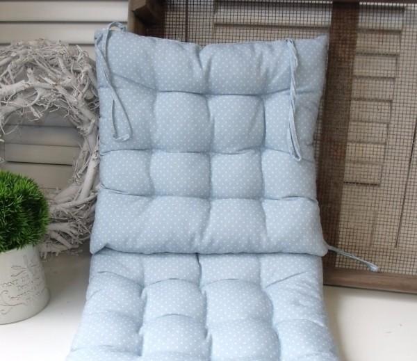 Point Blue Stuhlkissen Blau Grau Weiß 40x40 Cm Matratzenkissen