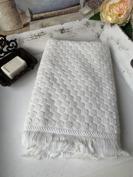 Handtuch PEGGY Offwhite 50x70 cm Frottee Handtuch Fransen