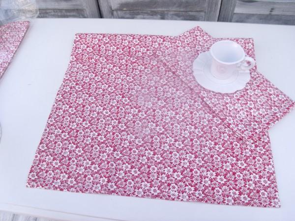 Geschirrtuch KITCHEN rot geblümt Trockentuch creme rot geblümt 50x70 cm