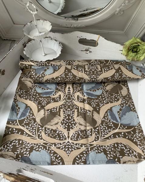 Tischläufer TALIA Blau 45 x 150 Baumwolle Landhaus