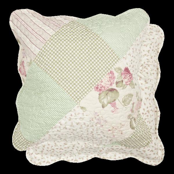 Kissenbezug LILIA 50x50cm Creme Grün Rosa Polyester