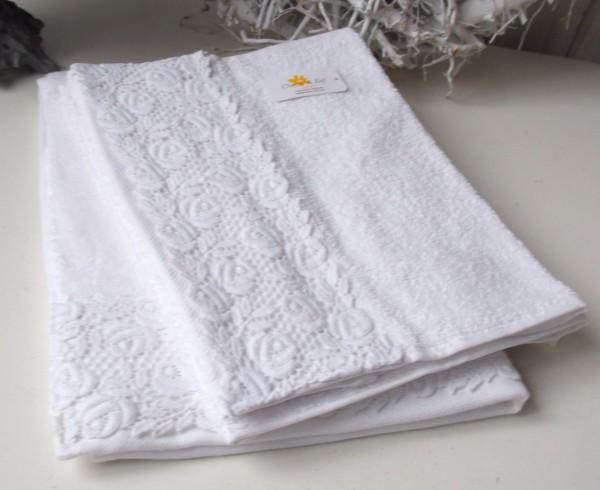 Handtücher Landhausstil handtuch venezia weiß 50x100 cm handtücher alle größen bad