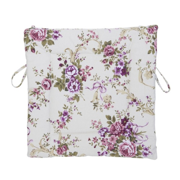 stuhlkissen rose lila lila bordeaux 40x40 cm blumen floral. Black Bedroom Furniture Sets. Home Design Ideas